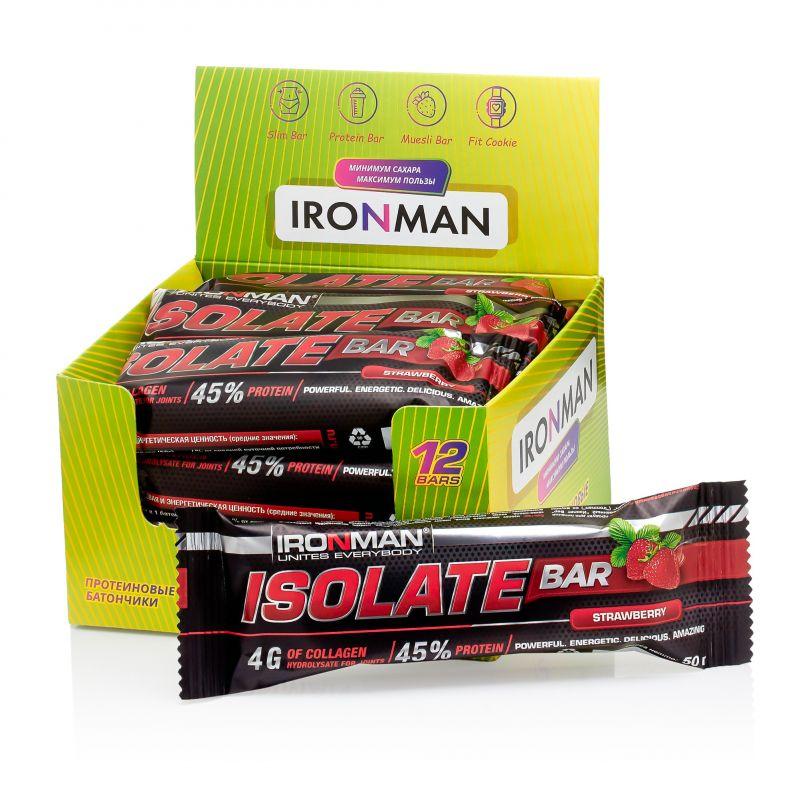 Isolate Bar, шоу-бокс 12x50г, клубника