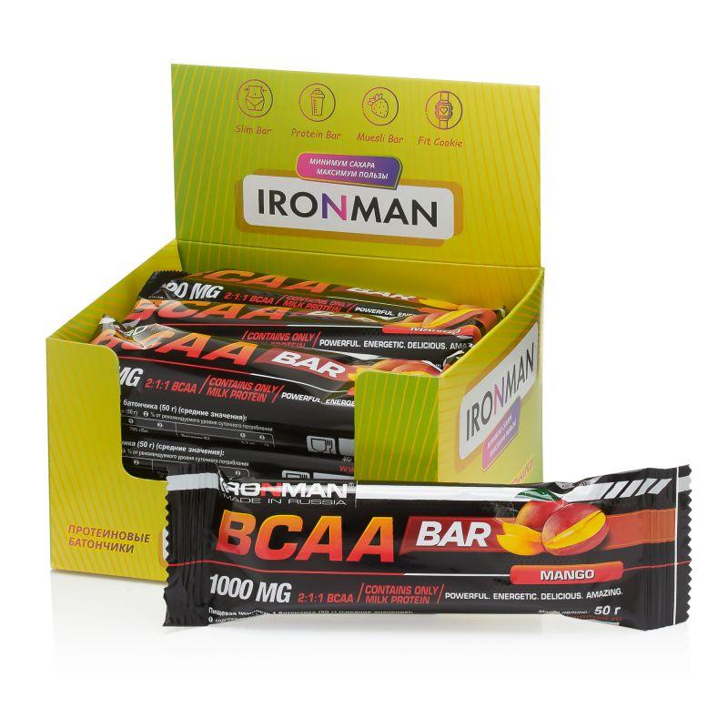 BCAA bar, шоу-бокс 12x50г, манго