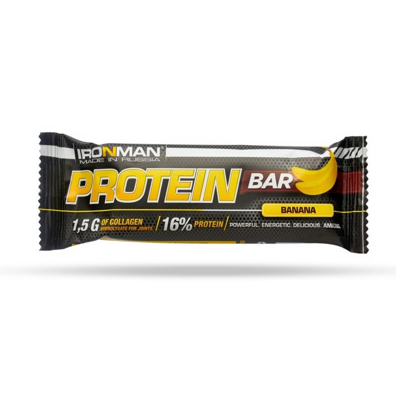 Ironman Protein Bar с коллагеном, 7 вкусов