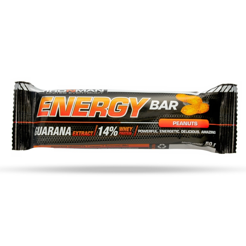 Energy Bar с гуараной, 2 вкуса, 1 шт.